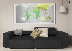 Huge World Future Map (Version 1) 1960 x 1000mm Laminated