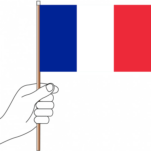 France Flag Handwaver - Knitted Polyester