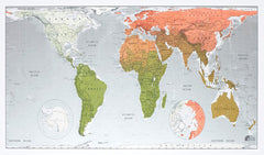 World Future Map (Version 2) 1015 x 575mm Laminated