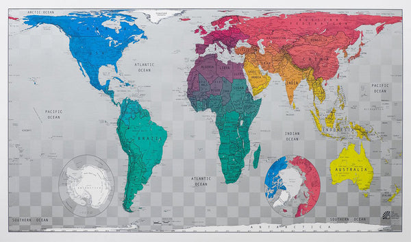 World Future Map (Version 3) 1015 x 575mm Laminated