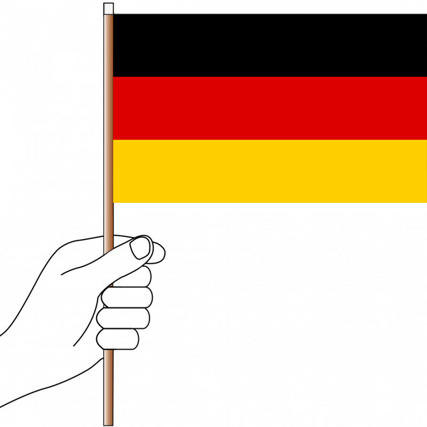 Germany Flag Handwaver - Knitted Polyester
