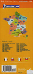 Languedoc-Roussillon 526 France Michelin Map