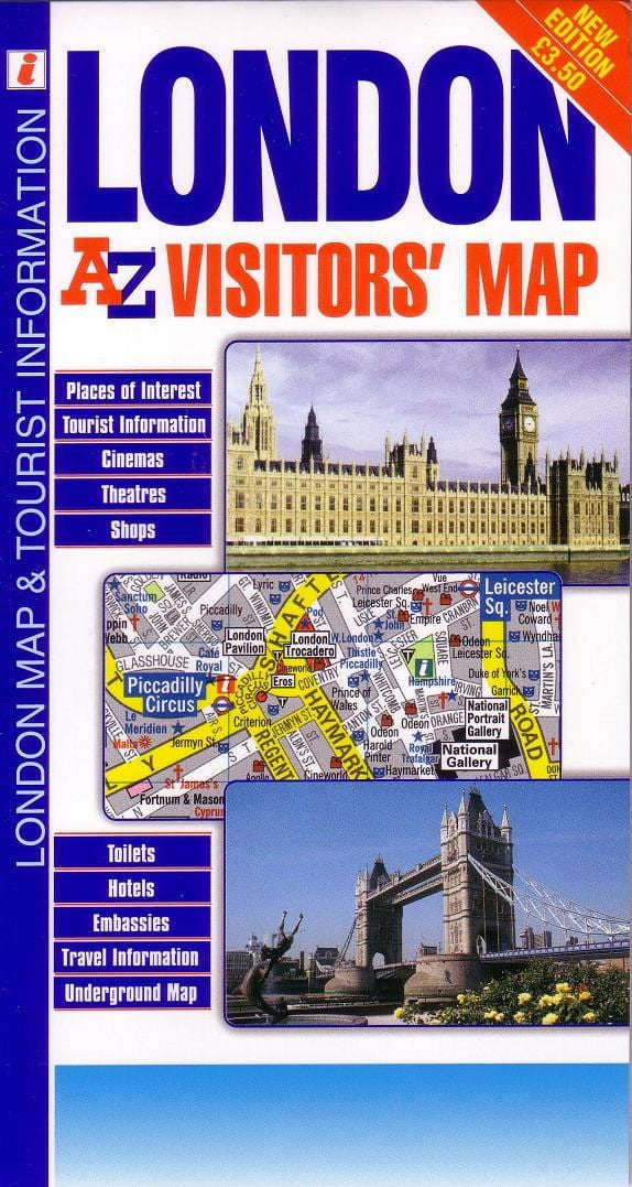 Central London Tourist Attractions Map.London Visitors A Z Map
