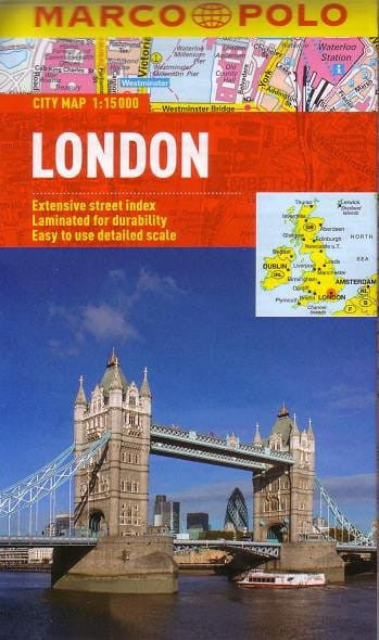 London Marco Polo Folded Laminated Map