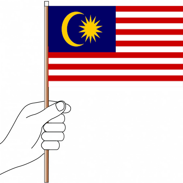 Malaysia Flag Handwaver - Knitted Polyester