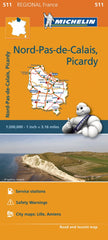 Nord Pas de Calais, Picardie 511 France Michelin Map