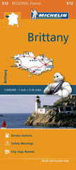 Brittany 512 France Michelin Map