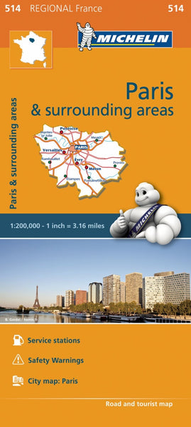 Paris and Ile - de - France 514 France Michelin Map