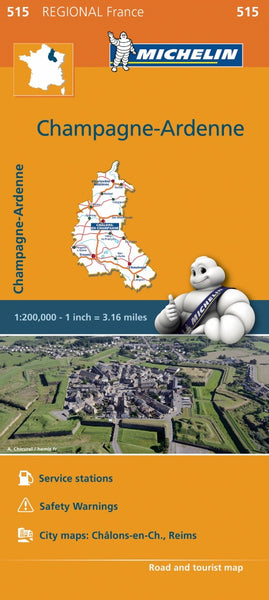 Champagne - Ardennes 515 France Michelin Map