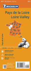 Loire Valley 517 France Michelin Map