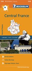 Central France 518 France Michelin Map