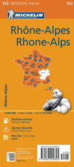 Rhone-Alps 523 France Michelin Map