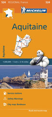 Aquitaine 524 France Michelin Map