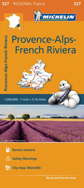 Provence-Alps-French Riviera 527 France Michelin Map