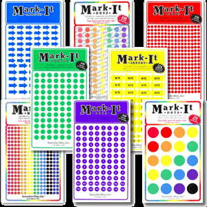 Coloured Map Dots - Map Marking