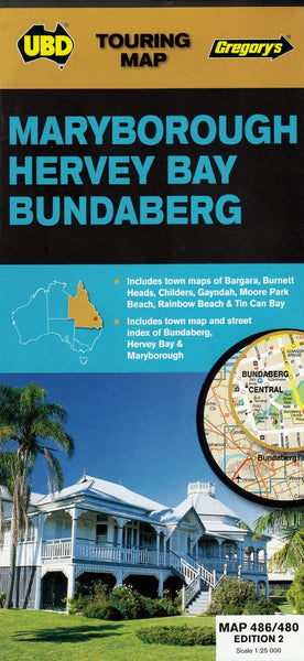 Maryborough, Hervey Bay & Bundaberg UBD 486/480 Map