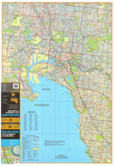 Melbourne UBD map 690 x 1000mm Laminated Wall Map with Hang Rails