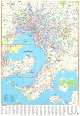 Mapworld victoria wall maps melbourne ubd map 1380 x 2000mm laminated gumiabroncs Gallery