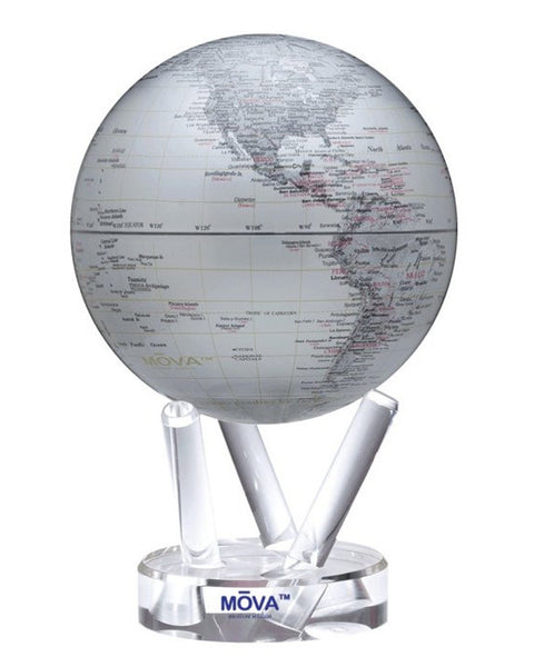 MOVA Globe Metallic Silver Map - 6""