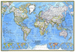 World Map 1981 by National Geographic