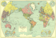World Map 1932 by National Geographic