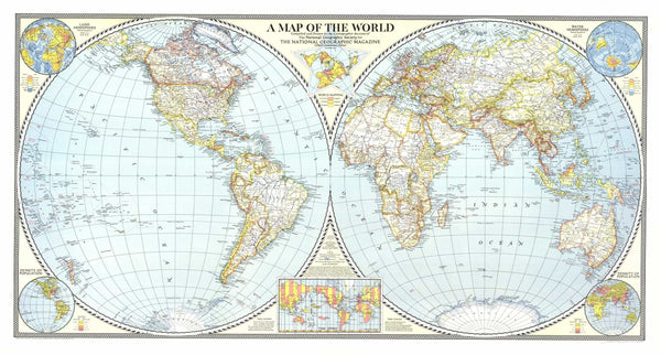 World Map 1941 by National Geographic