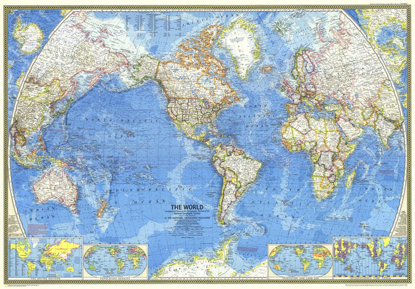 World Map 1970 by National Geographic
