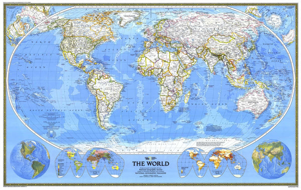 World Map 1988 by National Geographic