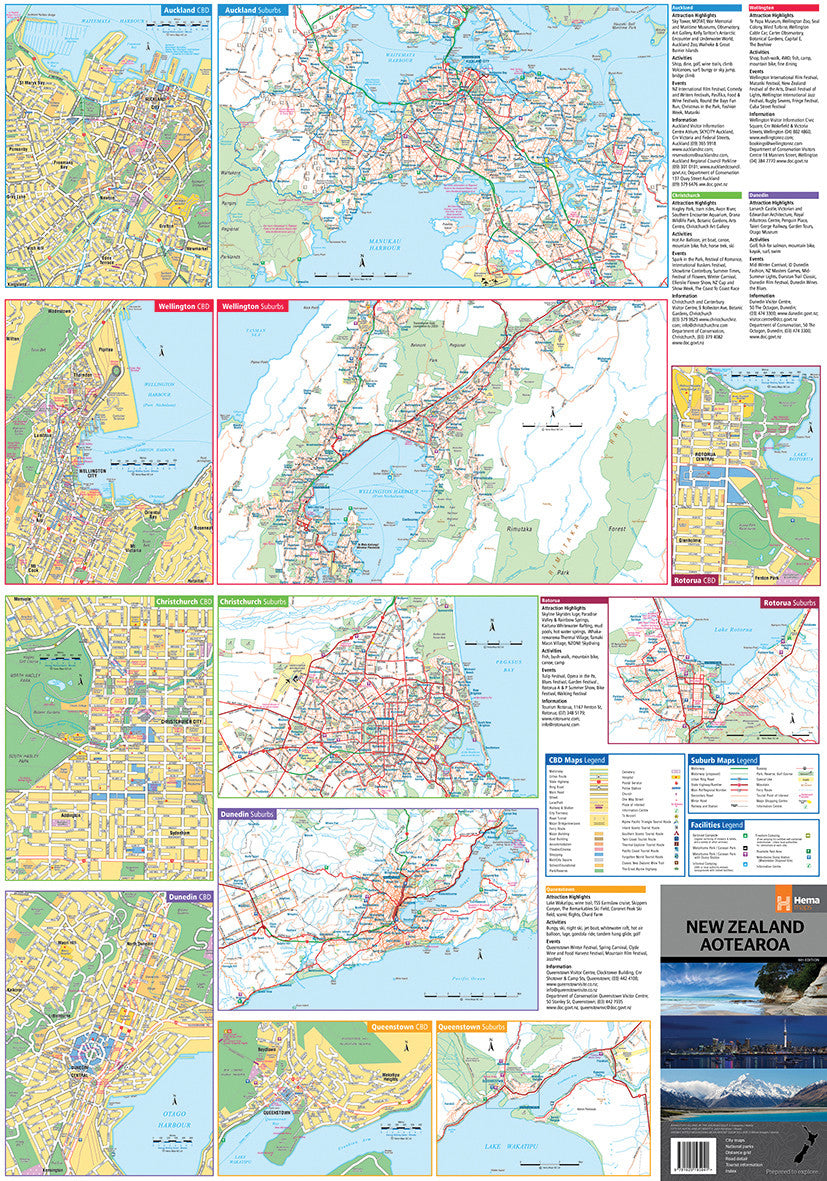 New Zealand Auckland Map.New Zealand Hema Map