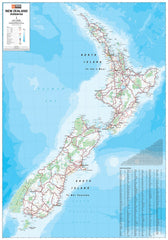 New Zealand Hema Laminated Wall Map