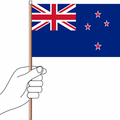 New Zealand Flag Handwaver - Knitted Polyester