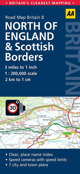 North of England and Scottish Borders AA Road Map 8