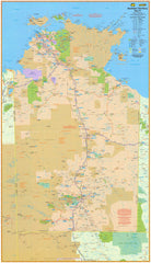 Northern Territory UBD Map 1020 x 1480mm Laminated Wall Map with Hang Rails