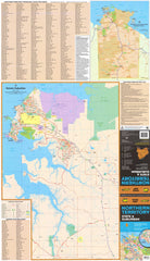 Northern Territory UBD Map 690 x 1000mm Laminated Wall Map with Hang Rails
