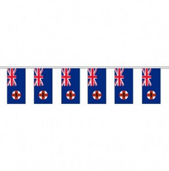 New South Wales Flag Bunting 10 meter - Knitted Polyester