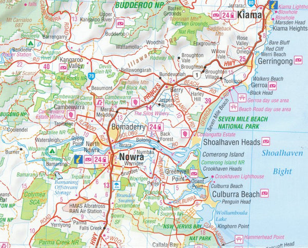 New South Wales Hema Supermap Laminated Buy Large Map Of