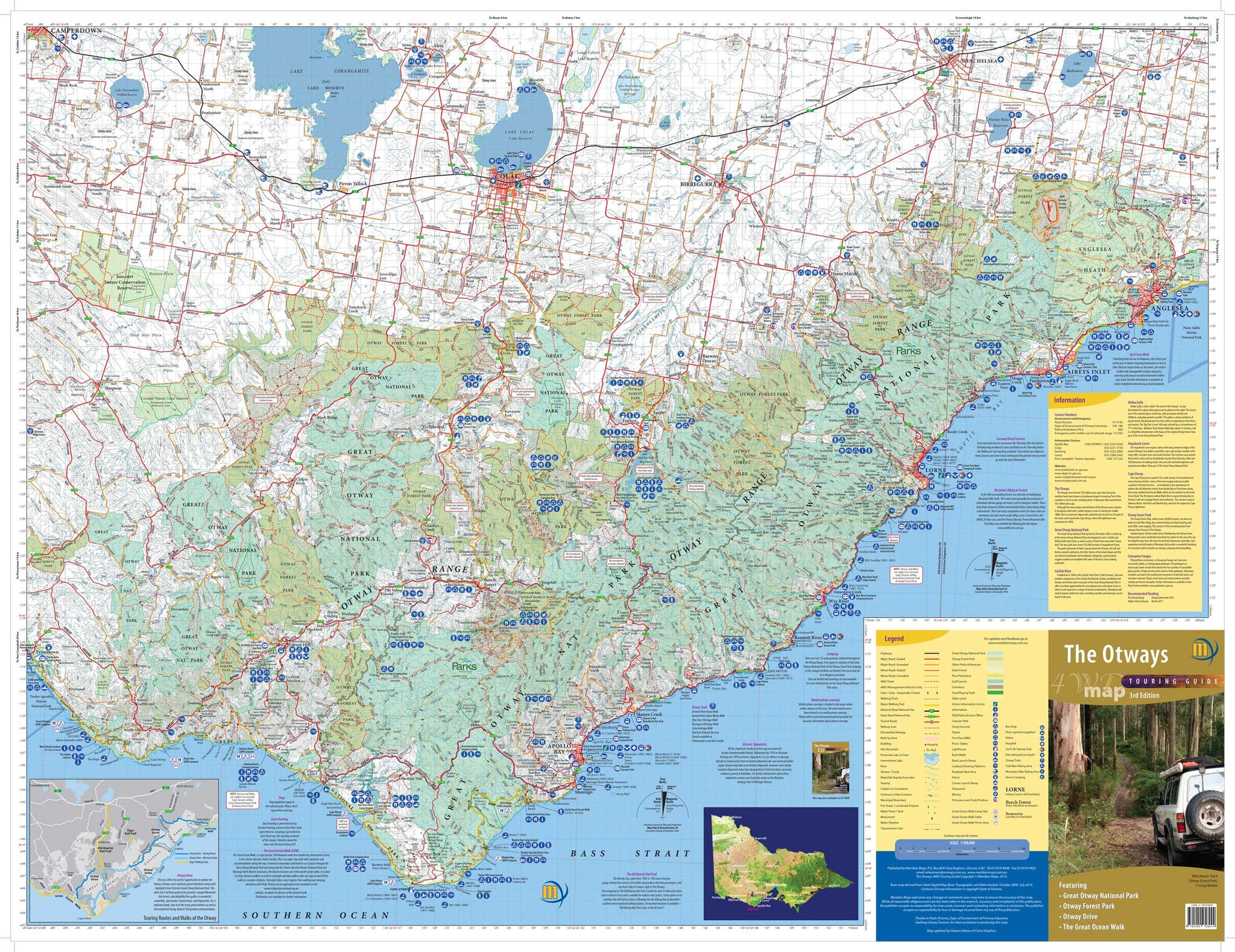 The Otways 4WD Map buy 4WD map of the Otways Mapworld