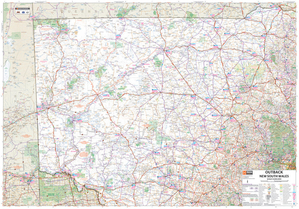 Outback New South Wales Hema Map 700 x 1000mm Laminated Wall Map
