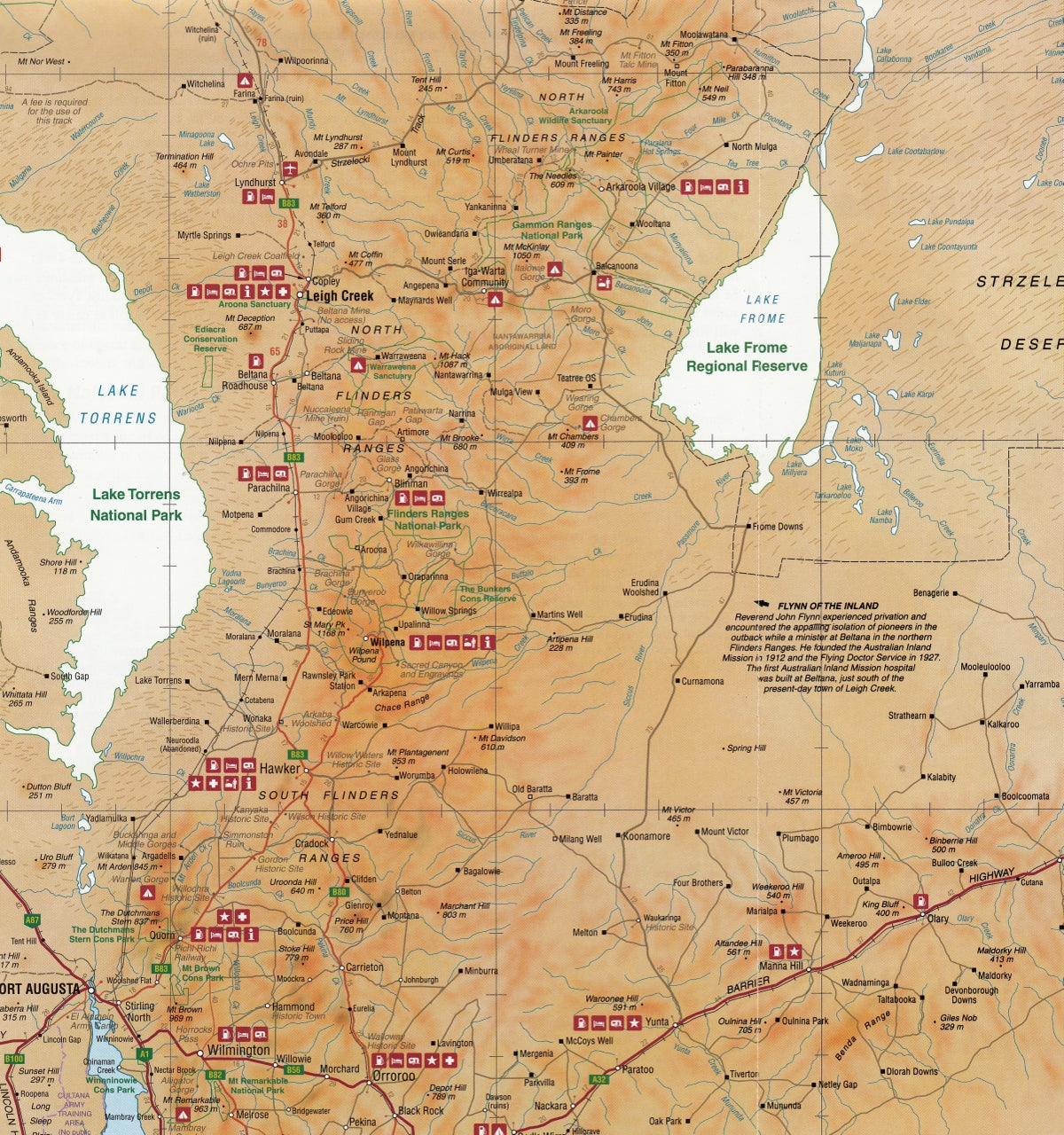 Where Is The Outback In Australia On A Map.Outback Central South Australia Map Cartographics