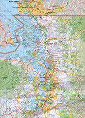 Pacific Northwest USA Hallwag Map