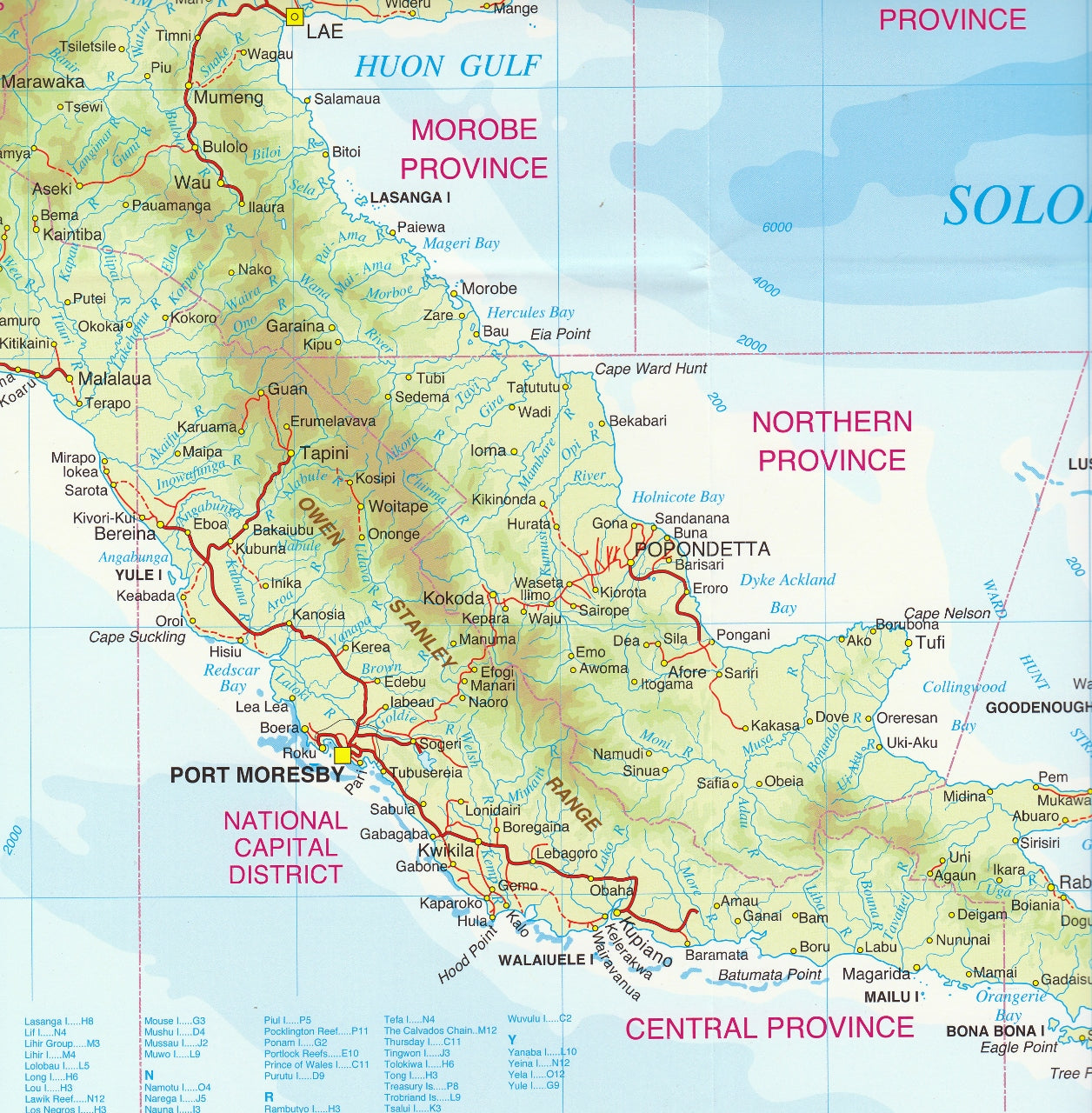 Papua New Guinea (PNG) Hema Map