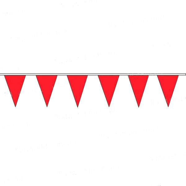 Pennant Bunting Fluoro Red No 9 - Vinyl - 100m