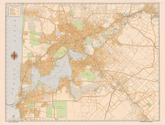 Perth Historic Wall Map published 1952