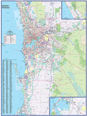 Perth Business 665 Map UBD 1480 x 1980mm Laminated Wall Map