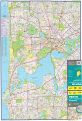 Perth UBD map 1020 x 1480mm Laminated Wall Map with Hang Rails