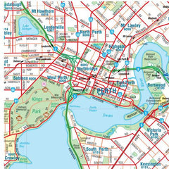 Perth & Region Hema 1000 x 1400mm Supermap Paper Wall Map