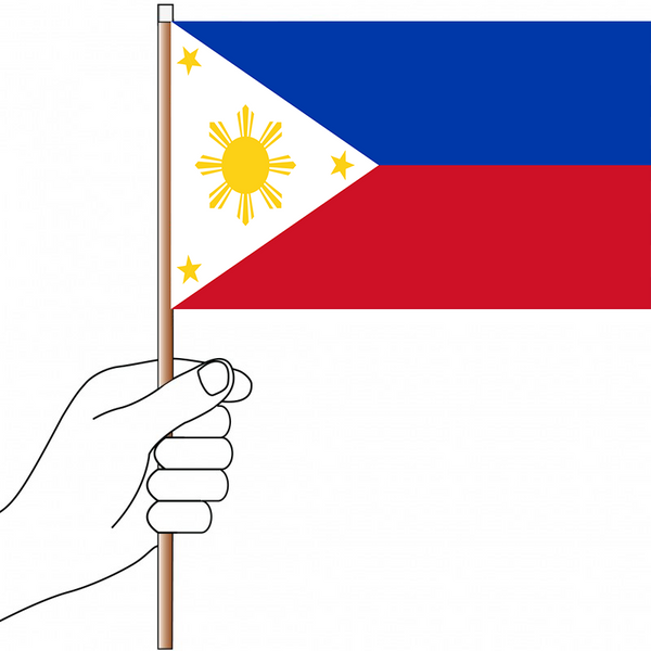Philippines Flag Handwaver - Knitted Polyester