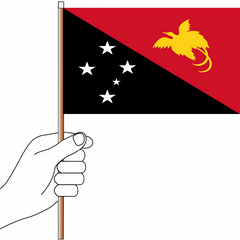 Papua New Guinea Flag Handwaver - Knitted Polyester