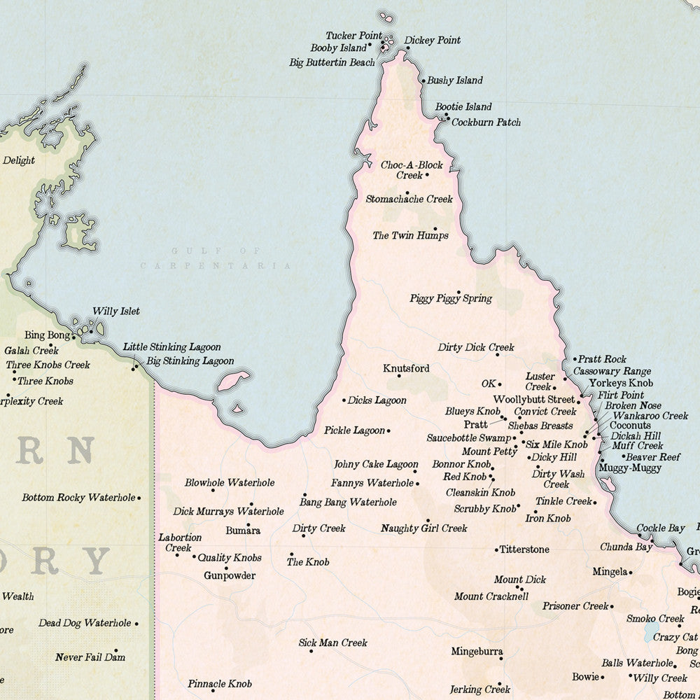 Buy Marvellous Map Of Actual Australian Place Names Mapworld