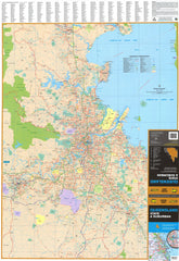 Queensland UBD 470 Map 690 x 1000mm Laminated Wall Map with Hang Rails